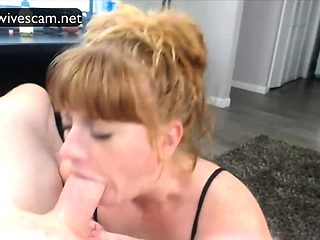 Wife perfect deepthroat on cam