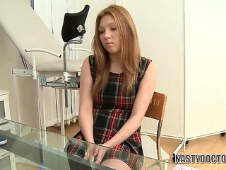 Blonde teen fucked by the doctor