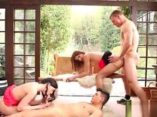 Bisex Foursome Fuck Ass