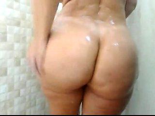 Big booty bbw shower webcam