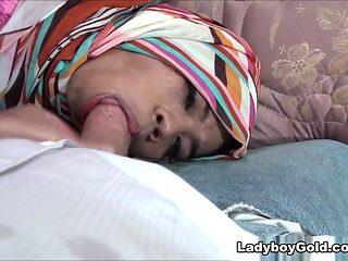 Adriana - Tied up Muslim LB CIM - LadyboyGold