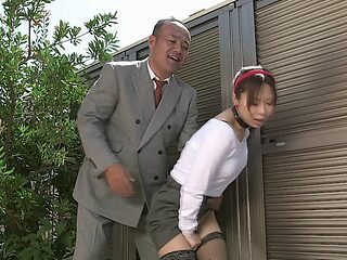 Asian cutie has her hairy twat fucked hard and creamed