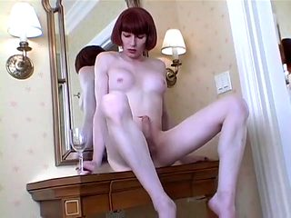 Best homemade shemale clip with Big Tits, Masturbation scenes