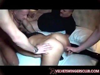 Velvet Swingers Club private gangbang party Cuckold husband