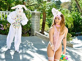 Summer Brooks in Mini Easter Bunny Babe Gets Slammed - ExxxtraSmall