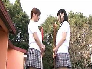 Naughty Japanese schoolgirls explore their lesbian desires