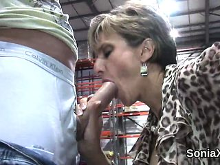 Adulterous uk milf lady sonia shows off her enormous titties