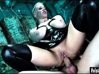 Kinky sluts enjoy his raging boner