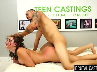 Incredible rough sex with a big titty slut