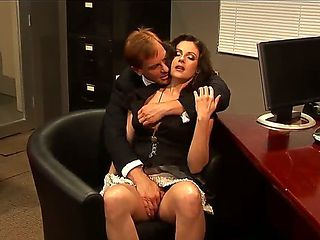 Naughty amateur man Evan Stone trying to seduce for fuck his hot brunette work mate Samantha Ryan...