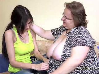 Chesty Granny Is Having Lesbian Action