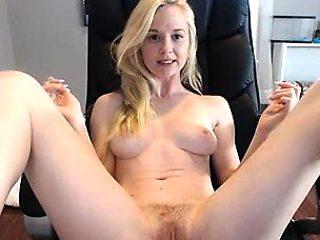 Hot Blonde Teen Striptease