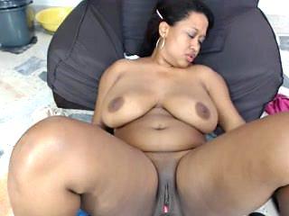 Ebony bbw solo