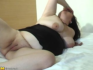 Chubby dark-haired chick Eliza still masturbates once a day