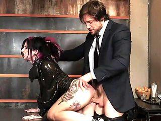 Latex secretary 02 - Fucked from behind