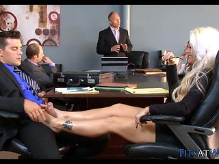 Blonde Slut in the Meeting Room